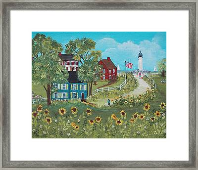 Late July Framed Print