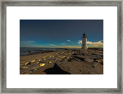 Late Light At The Light Framed Print