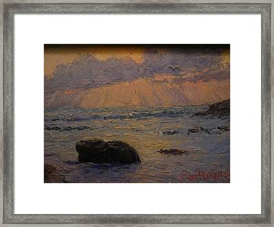Late Light Knights Point Framed Print by Terry Perham