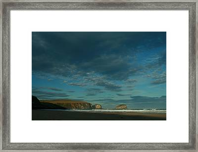 Late Light Tautauku Beach Framed Print by Terry Perham