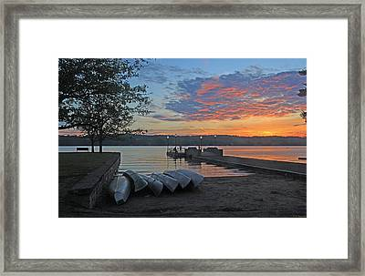 Late May At The Pier 15 Framed Print