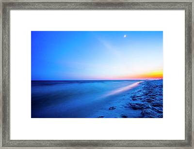 Late Night Beach Stroll Framed Print by Todd Reese