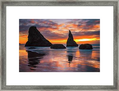 Framed Print featuring the photograph Late Night Cloud Dance by Darren White