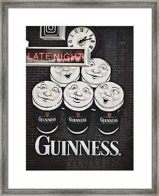 Late Night Guinness Limerick Ireland Framed Print