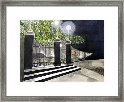 Late Night In New Orleans Framed Print by Cathy Jourdan
