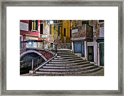Late Night In Venice Framed Print