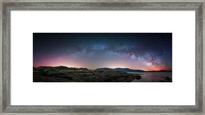 Late Night Milky Show Framed Print by Darren White