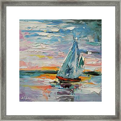 Late Night Sail Framed Print