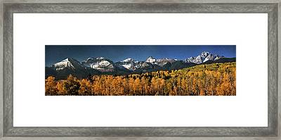 Late Night Sandwich In The Sneffels Wilderness Framed Print by Mike Berenson
