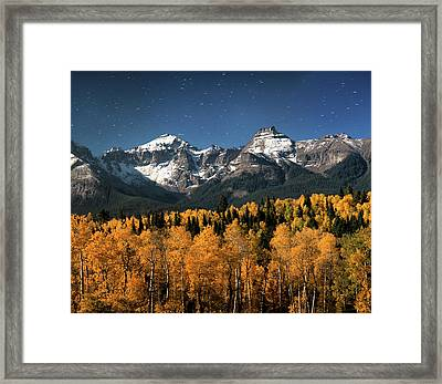 Late Night Sandwich In The Sneffels Wilderness - Triptych Center Framed Print