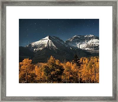 Late Night Sandwich In The Sneffels Wilderness - Triptych Left Framed Print