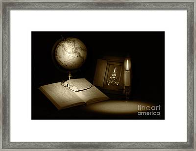 Late Night Studying Framed Print by Cecil Fuselier