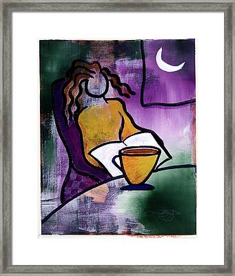 Late Night With Java Lady Framed Print