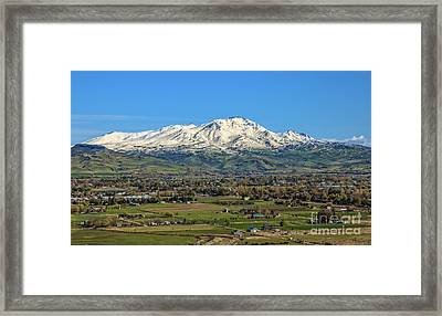 Framed Print featuring the photograph Late Spring On Squaw Butte by Robert Bales