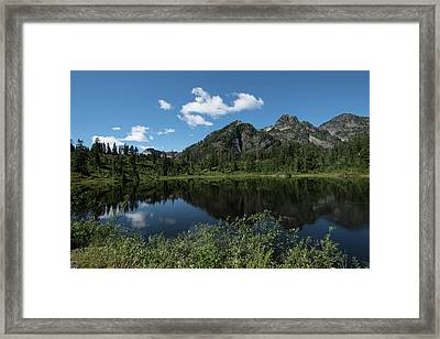 Late Spring Peaks Framed Print
