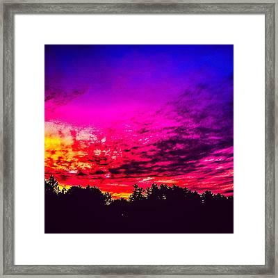 Late Spring Sunrise  Framed Print by Victory  Designs