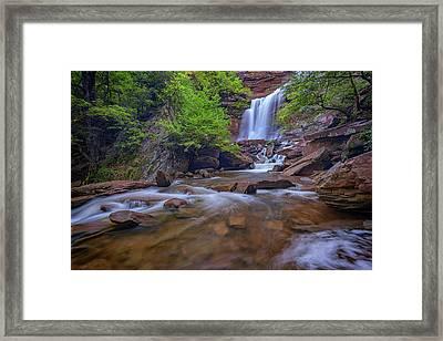 Late Summer At Kaaterskill Falls Framed Print by Rick Berk