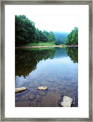 Late Summer At The Baptizing Hole Framed Print by Thomas R Fletcher
