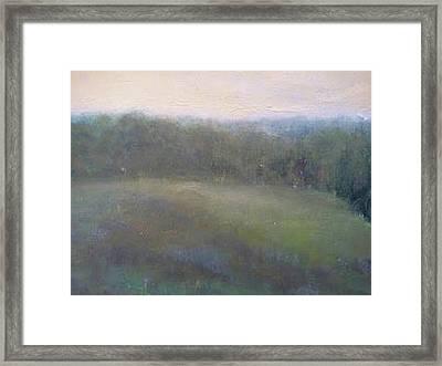 Late Summer Landscape Framed Print