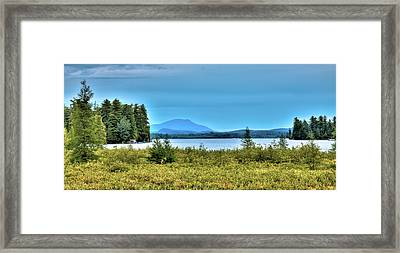 Late Summer On Raquette Lake Framed Print by David Patterson