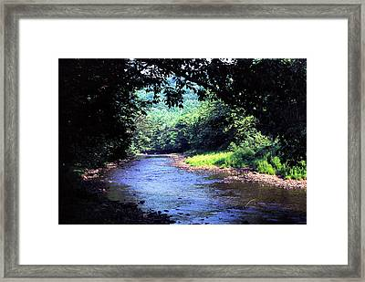 Late Summer On Williams River Framed Print by Thomas R Fletcher
