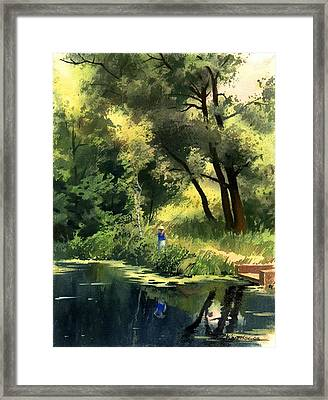 Framed Print featuring the painting Late Summer by Sergey Zhiboedov