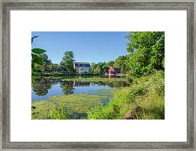 Late Summer - The Red Mill  On The Raritan River - Clinton New J Framed Print by Bill Cannon