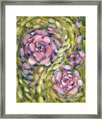 Late Summer Whirl Framed Print