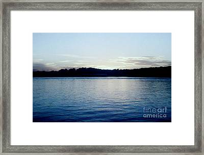 Late Sundown Framed Print