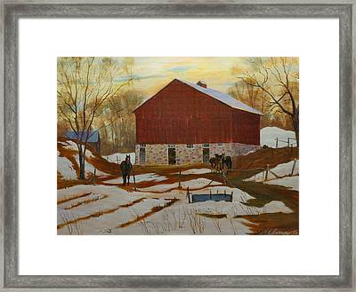 Late Winter At The Farm Framed Print