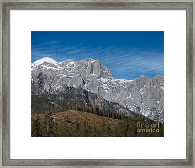 Late Winter In The Rockies Framed Print by Royce Howland
