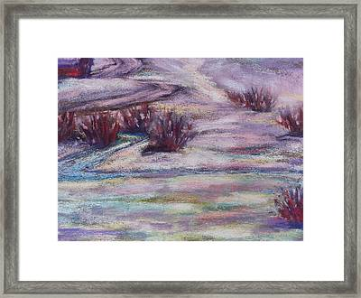 Late Winter Light Framed Print