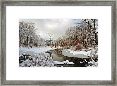 Late Winter Storm Framed Print