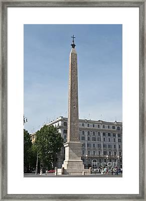 Lateran Obelisk Framed Print by Fabrizio Ruggeri