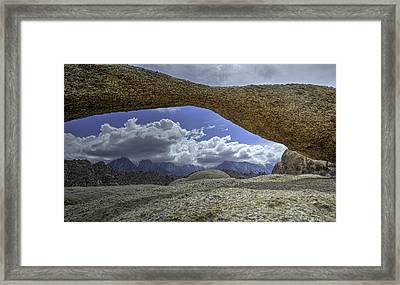 Lathe Arch Between Storms Framed Print
