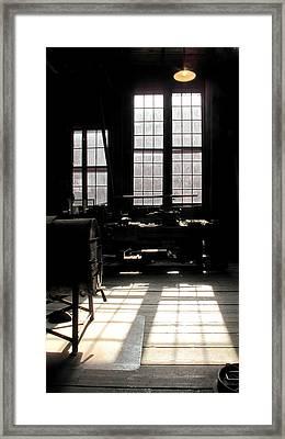 Lathe Framed Print by Larry Darnell