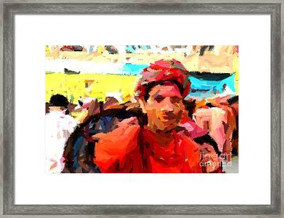 Lathmaar Holi Of Barsana-1 Framed Print