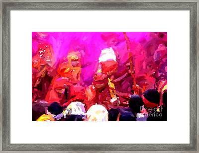 Lathmaar Holi Of Barsana-3 Framed Print