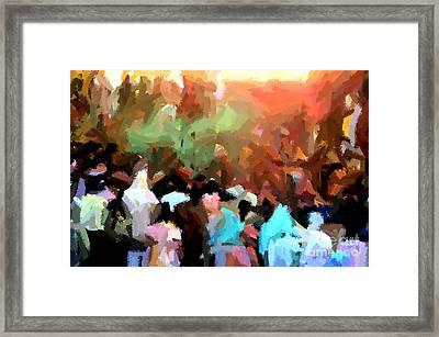 Lathmaar Holi Of Barsana-4 Framed Print