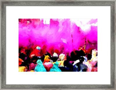 Lathmaar Holi Of Barsana-5 Framed Print