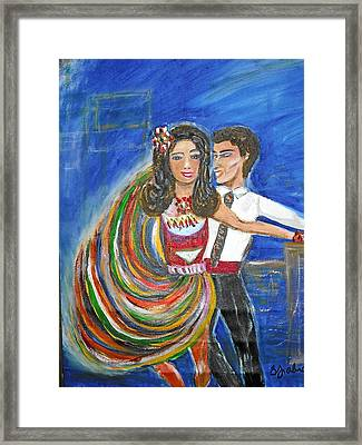 Latin Dancers 11 Framed Print by BJ Abrams