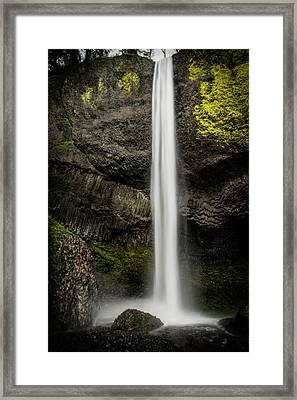 Latourell Falls Framed Print by Joe Hudspeth