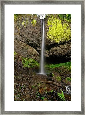 Framed Print featuring the photograph Latourell Falls by Jonathan Davison