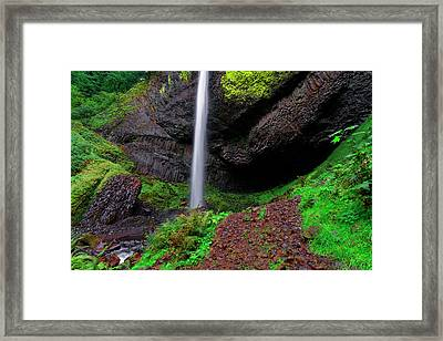 Framed Print featuring the photograph Latourell Falls Oregon by Jonathan Davison