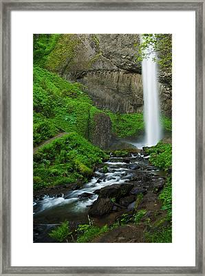 Latourell Falls Oregon Framed Print