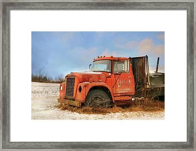 Framed Print featuring the photograph Latsha Lumber Truck by Lori Deiter