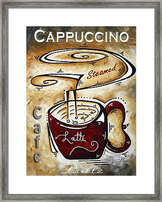Latte By Madart Framed Print by Megan Duncanson