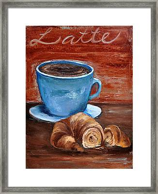 Framed Print featuring the painting Latte by Lindsay Frost
