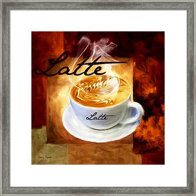 Latte Framed Print by Lourry Legarde