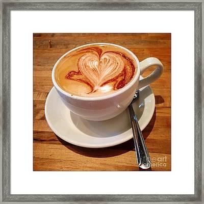 Latte Love Framed Print by Susan Garren